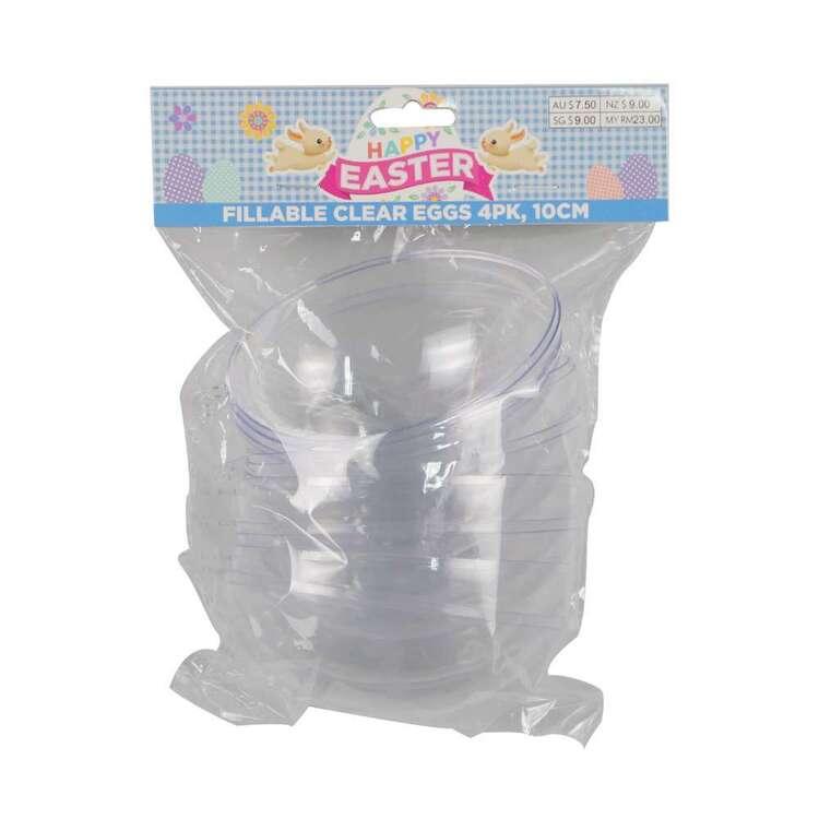 Fillable 10 cm Easter Eggs 4 Pack