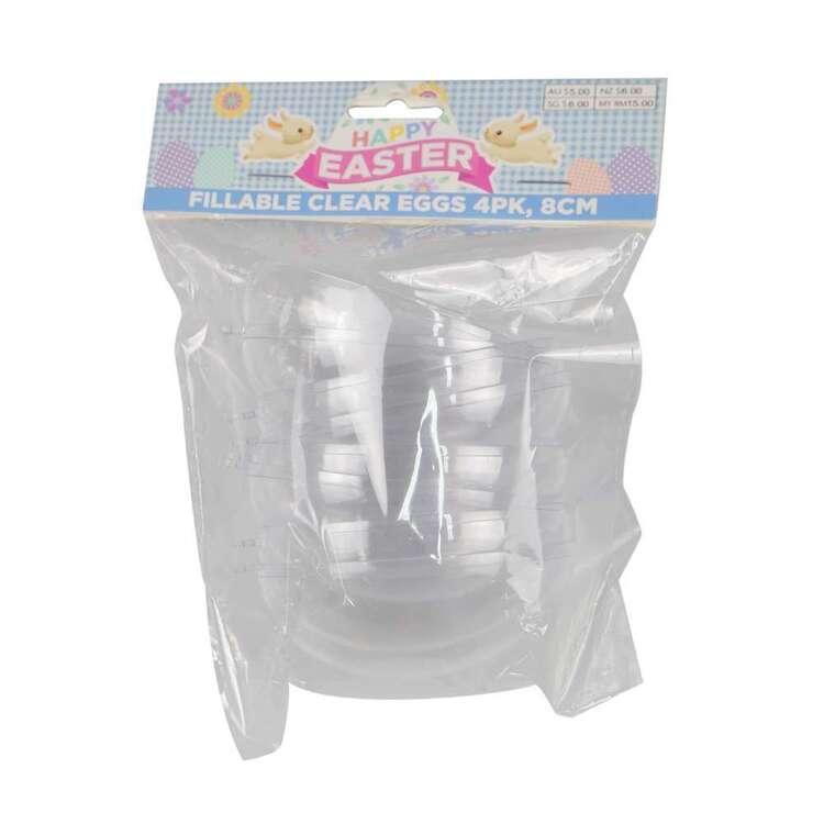 Fillable 8 cm Easter Eggs 4 Pack
