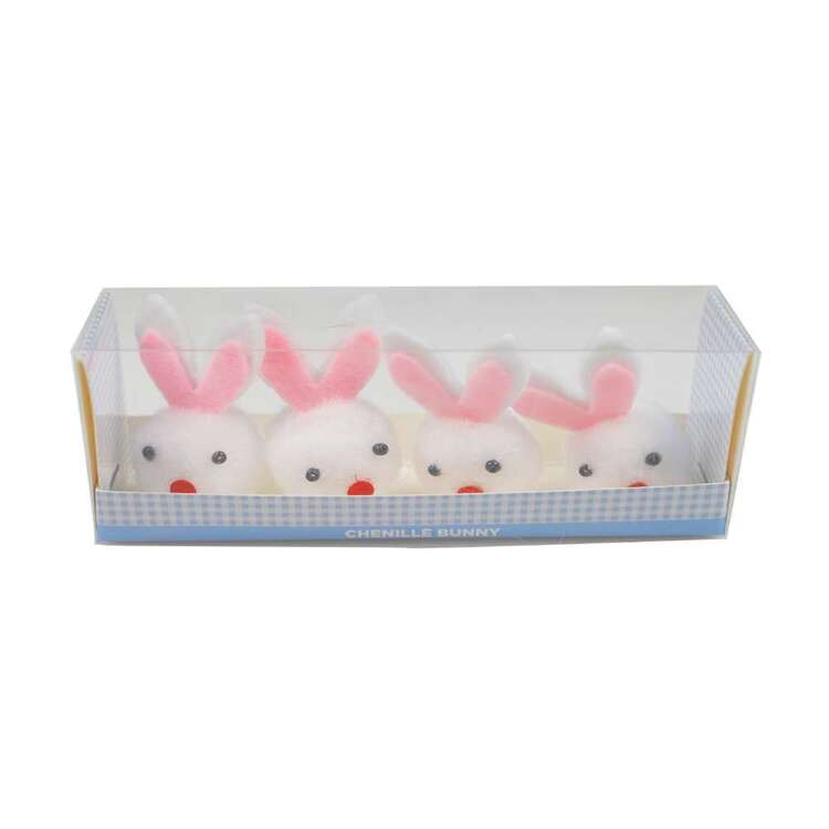 Chenille Bunny 4 Pack
