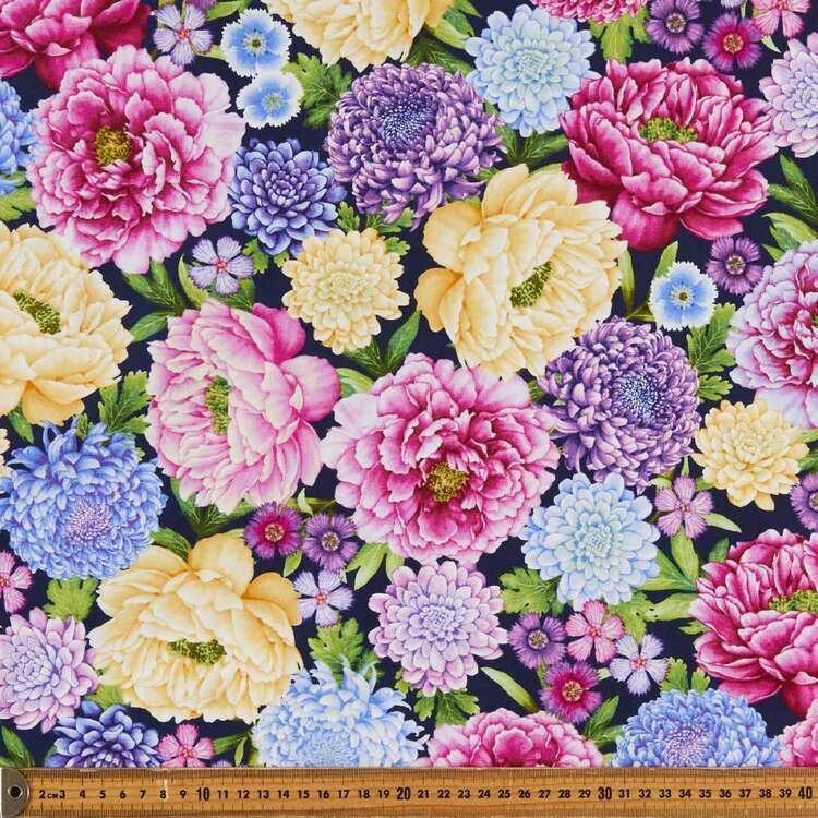 Gossamer Garden Large Floral Cotton Fabric