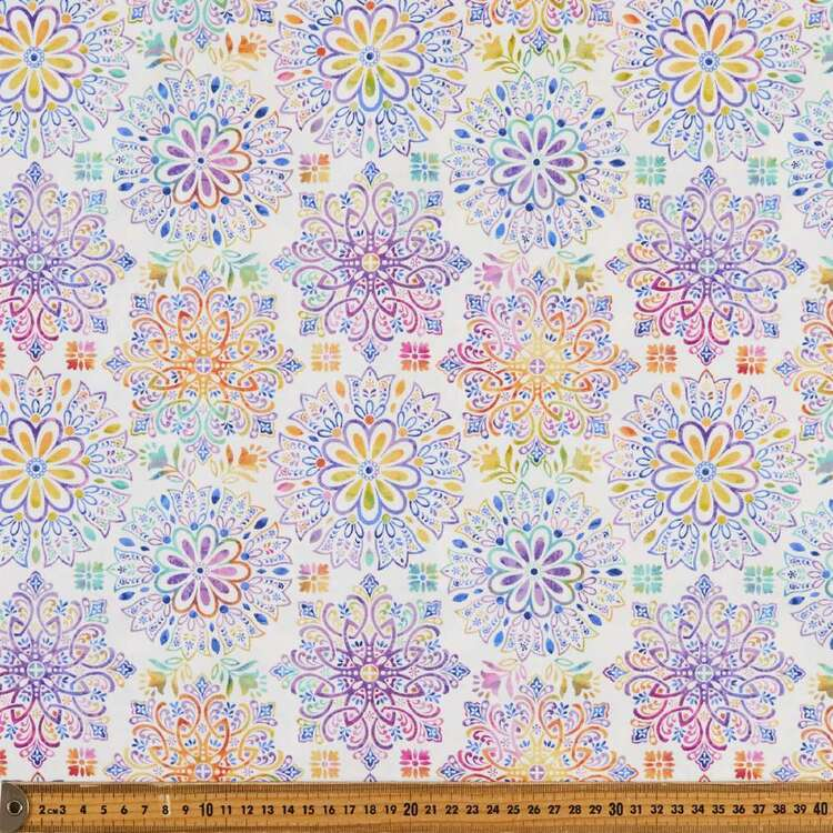 Gossamer Garden Medallion Cotton Fabric