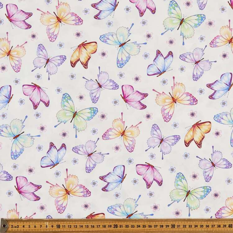 Gossamer Garden Butterflies Cotton Fabric