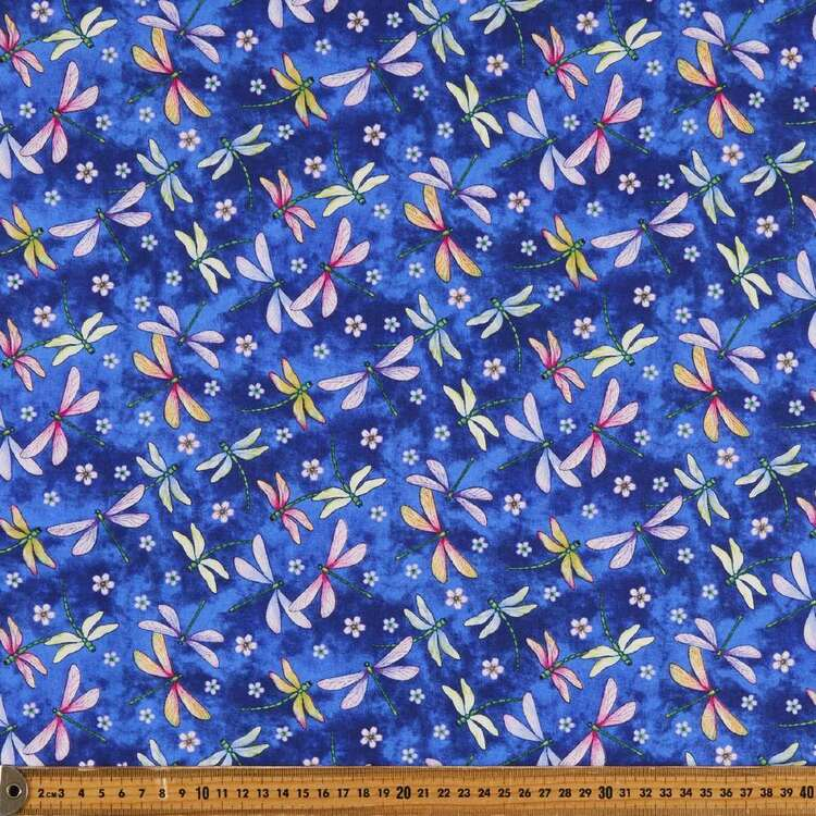 Gossamer Garden Dragonflies Cotton Fabric