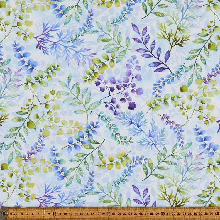 Gossamer Garden Foliage Cotton Fabric