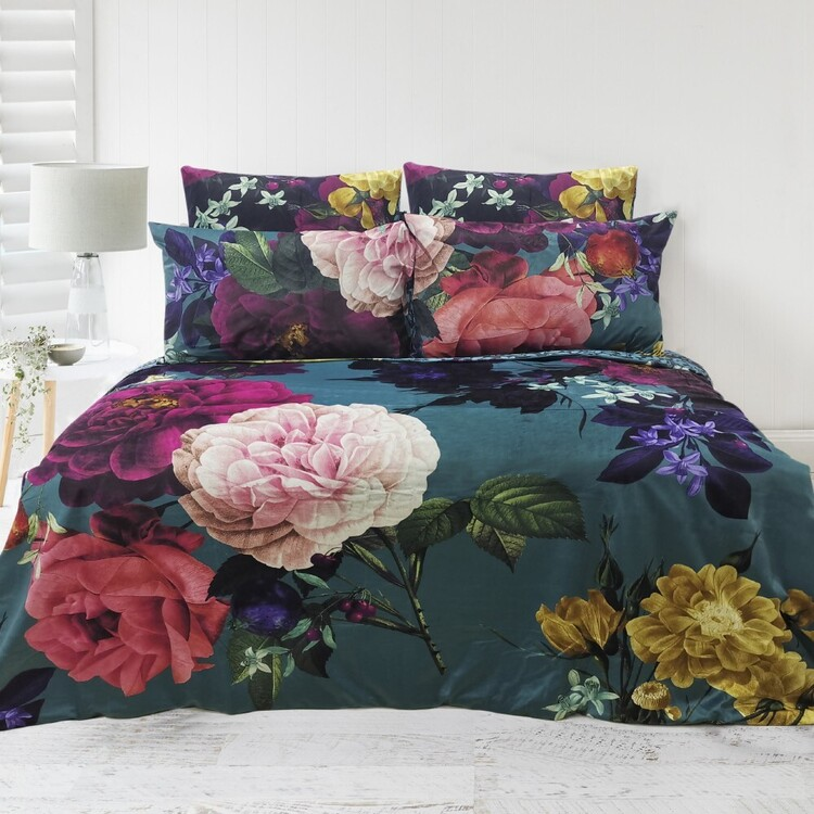 KOO Rose Velvet Quilt Cover Set