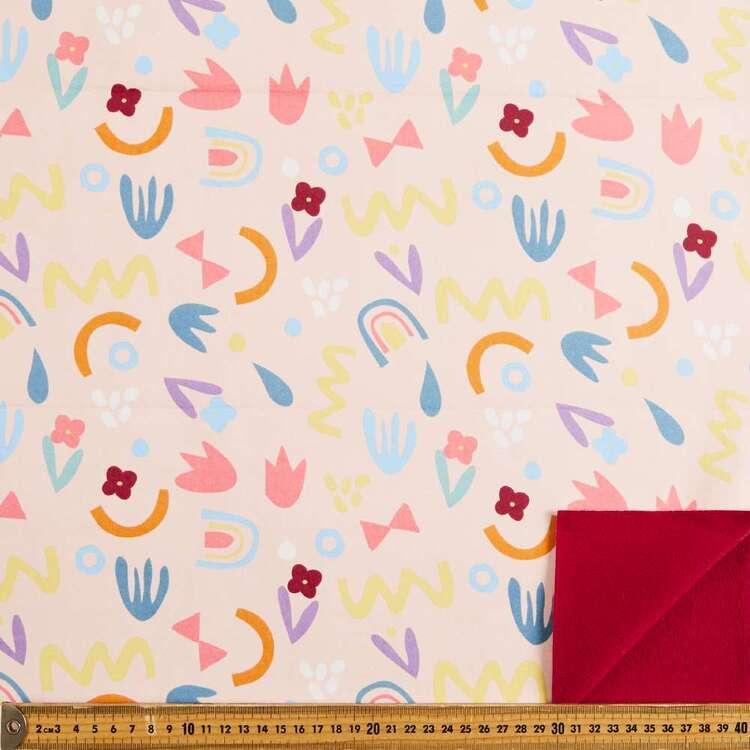 Shapes Printed 148 cm Soft Shell Fleece Fabric