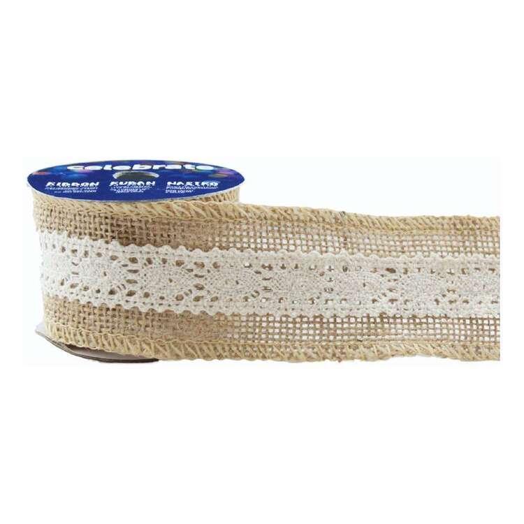 Celebrate Cotton Lace Hessian Ribbon