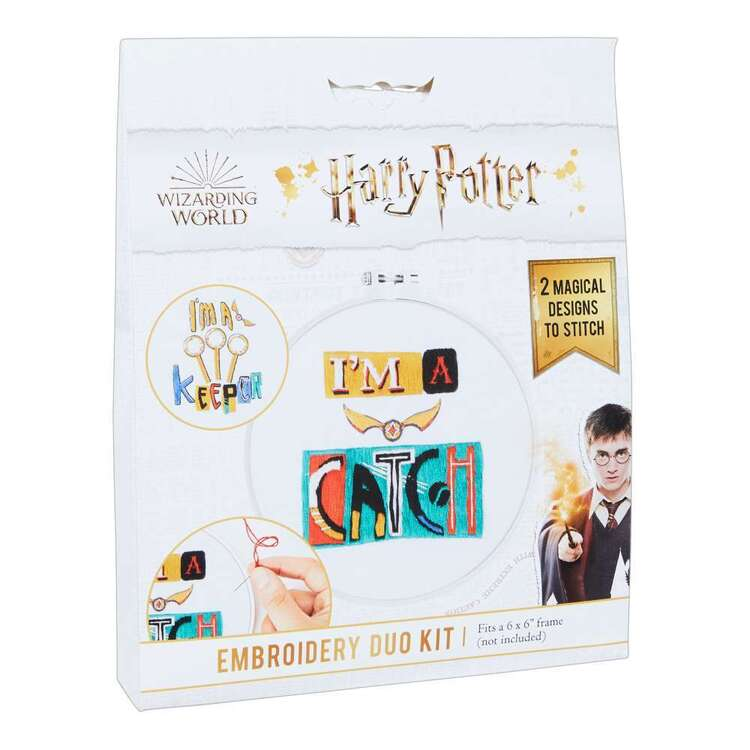 Harry Potter I Am A Catch Embroidery Duo Kit