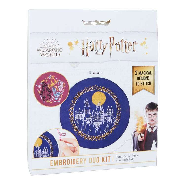 Harry Potter Dark Hogwarts Embroidery Duo Kit