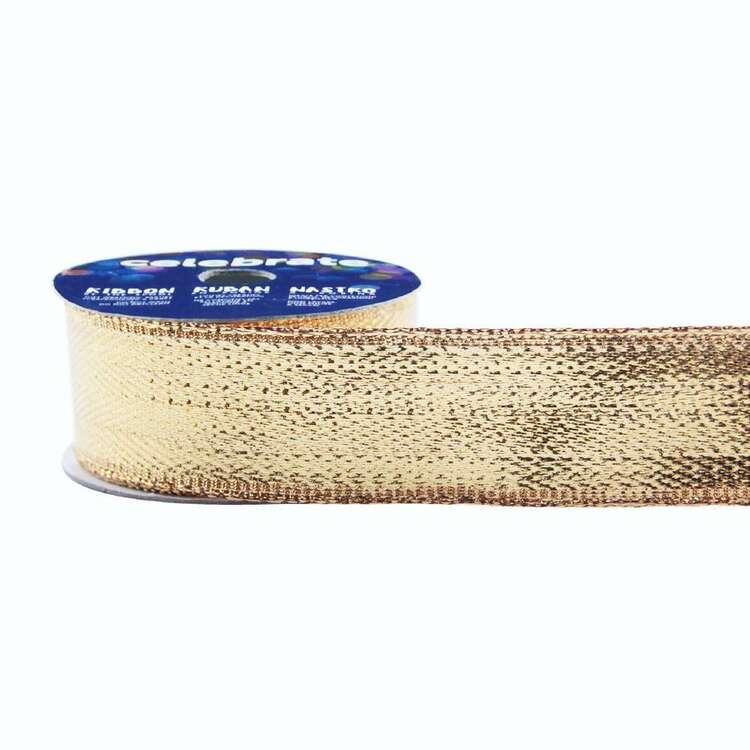 Celebrate Metallic 25 mm Woven Ribbon