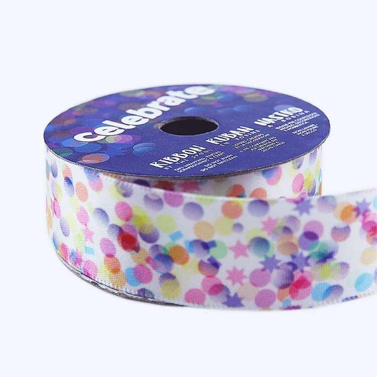 Celebrate Confetti Satin Ribbon