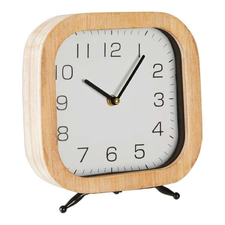 Living Space Table Clock With Legs
