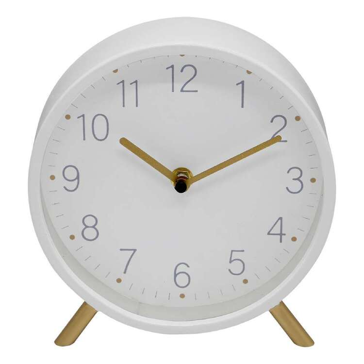 Living Space 19cm Table Clock With Legs