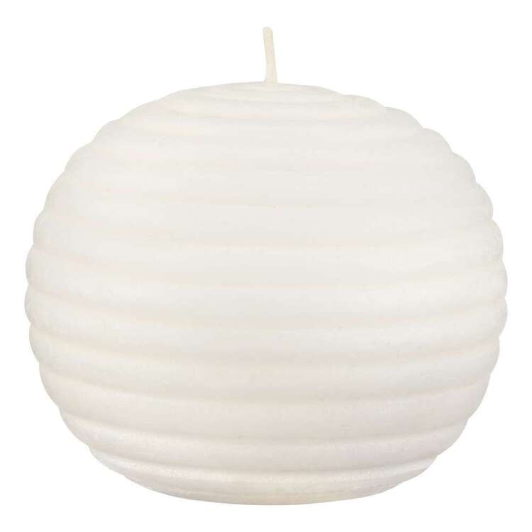 Bouclair Contemporary Organic Ripple Round Candle