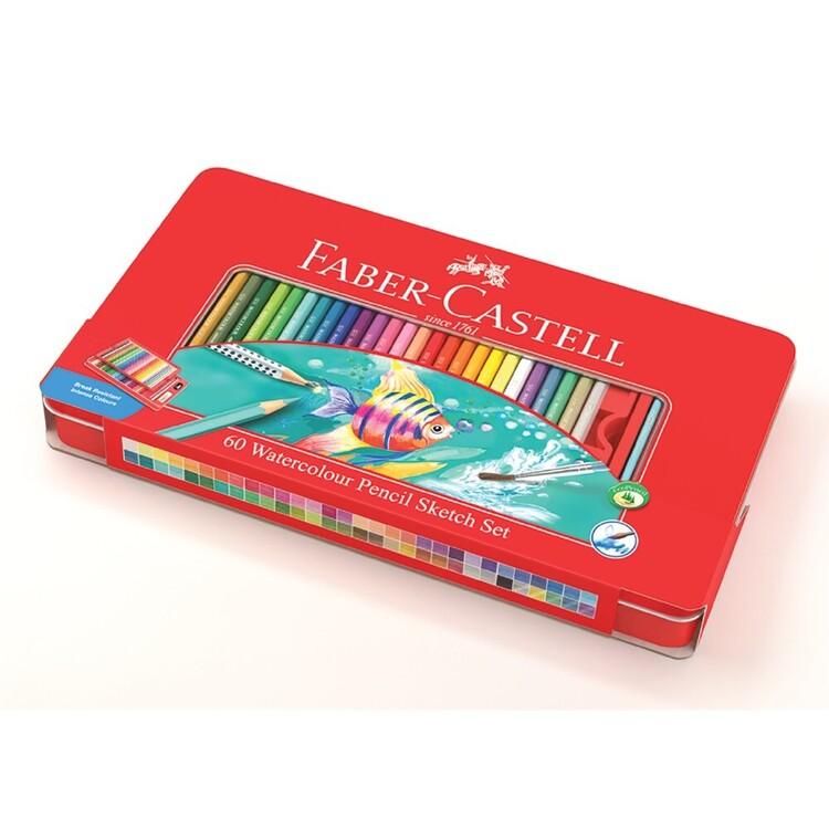 Faber-Castell Classic Watercolour Pencils 60 Pack