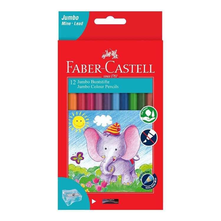 Faber-Castell Jumbo Colour Pencils 12 Pack