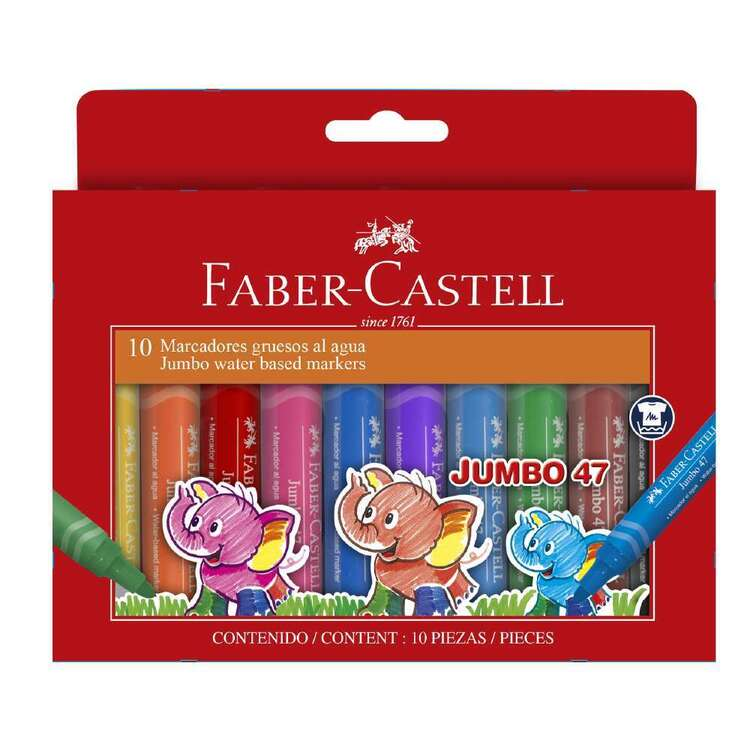 Faber Castell Jumbo 10 Pack Colour Markers