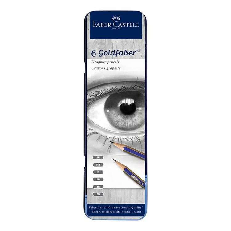 Faber Castell Goldfaber 6 Pack Graphite Pencils