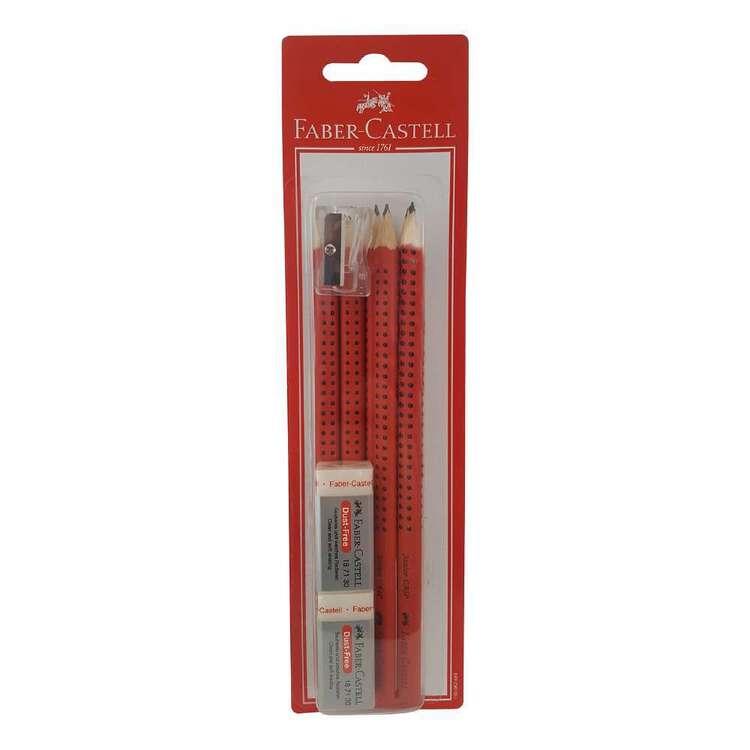 Faber Castell Junior Grip 6 Pack Blacklead Pencils