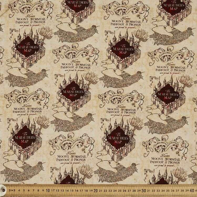 Harry Potter Marauder's Map Cotton Spandex Fabric
