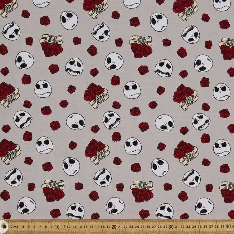 Nightmare Before Christmas Master Of Fright Cotton Spandex Fabric