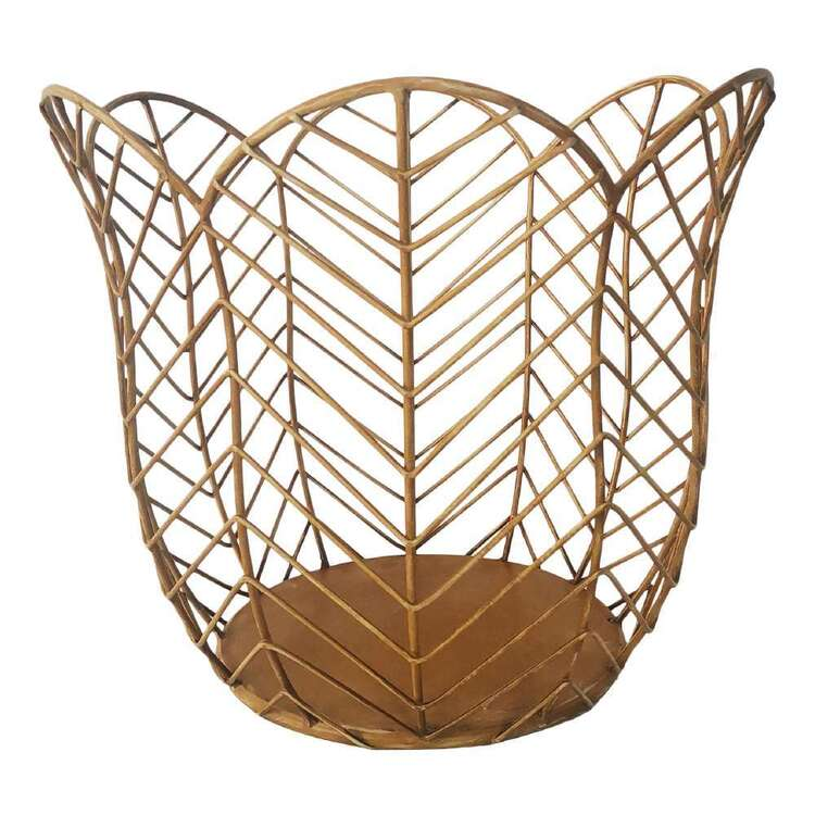 Ombre Home Wild Flower Metal Basket