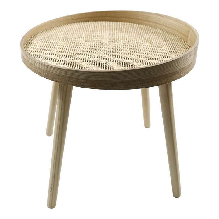Ombre Home Wild Flower Rattan Table