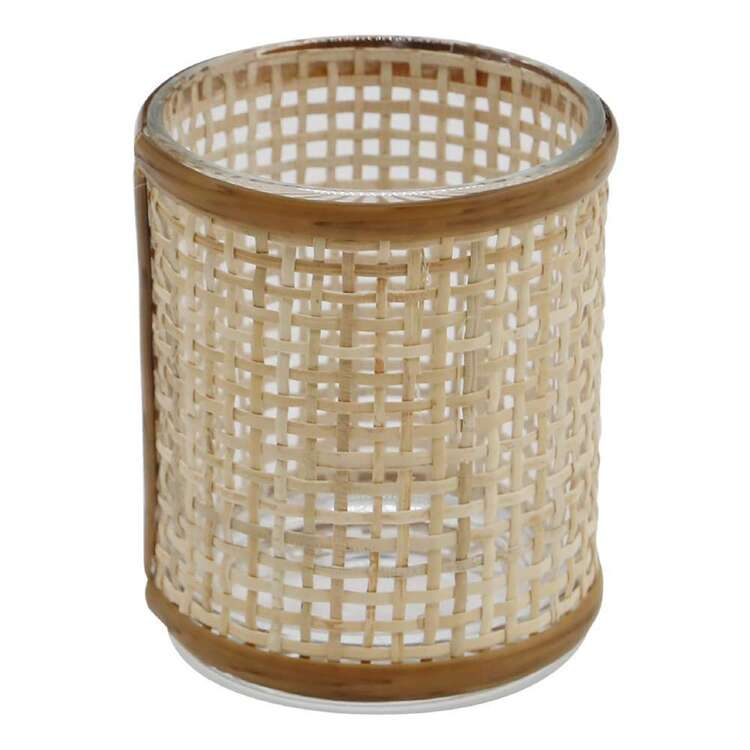 Ombre Home Wild Flower Rattan Candle Holder