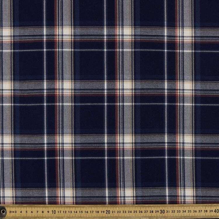 Check #2 Printed Yarn Dyed Poly Viscose Spandex Rayon Fabric