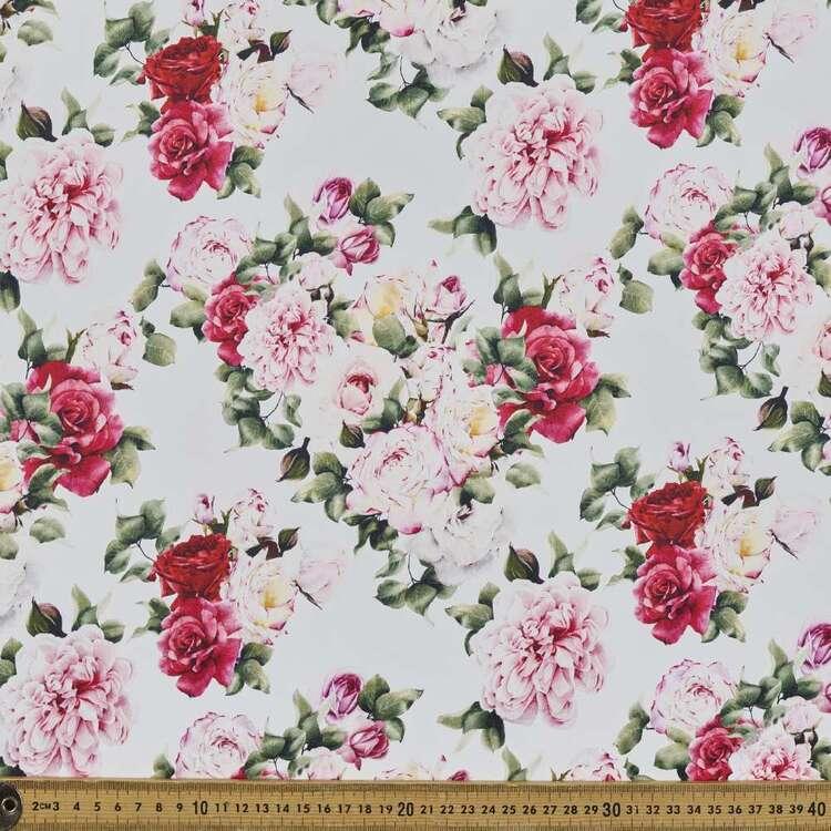 Classic Rose Digital Printed 127 cm Cotton Sateen Fabric