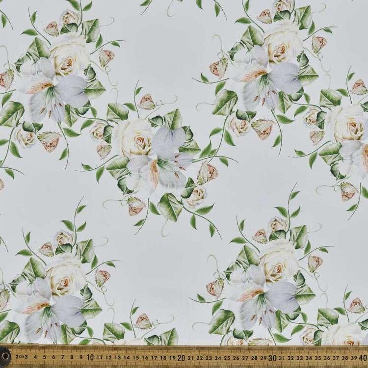 Hello Rose Digital Printed 127 cm Cotton Sateen Fabric