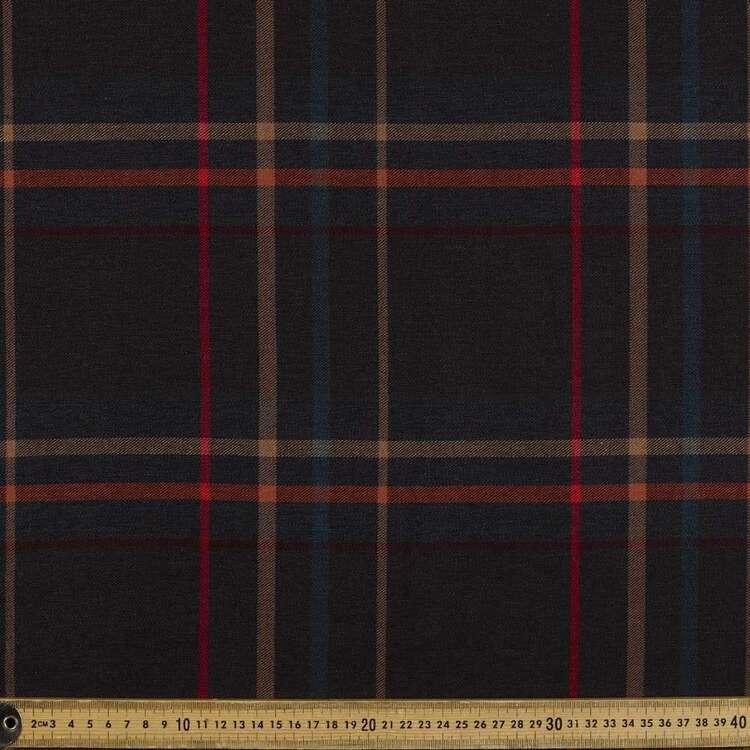 Big Check Printed Yarn Dyed Poly Viscose Spandex Rayon Fabric