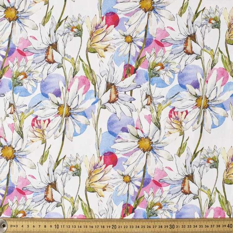 Glama Daisy Digital Printed 127 cm Cotton Sateen Fabric