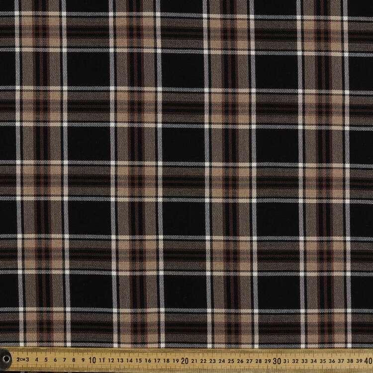Check #9 Printed Yarn Dyed Poly Viscose Spandex Rayon Fabric