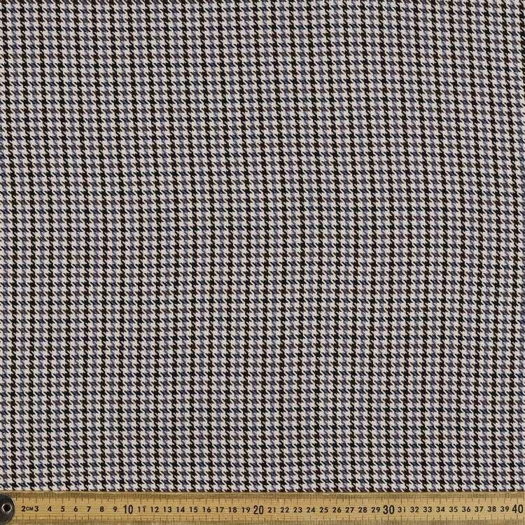 Mini Check Printed Yarn Dyed Poly Viscose Spandex Rayon Fabric