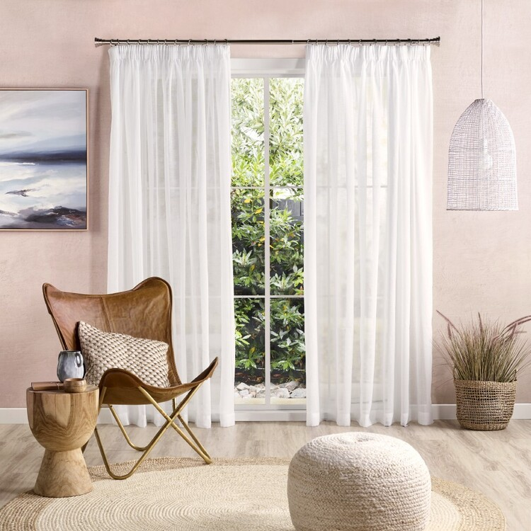 KOO Eclipse Sheer Pencil Pleat Curtains