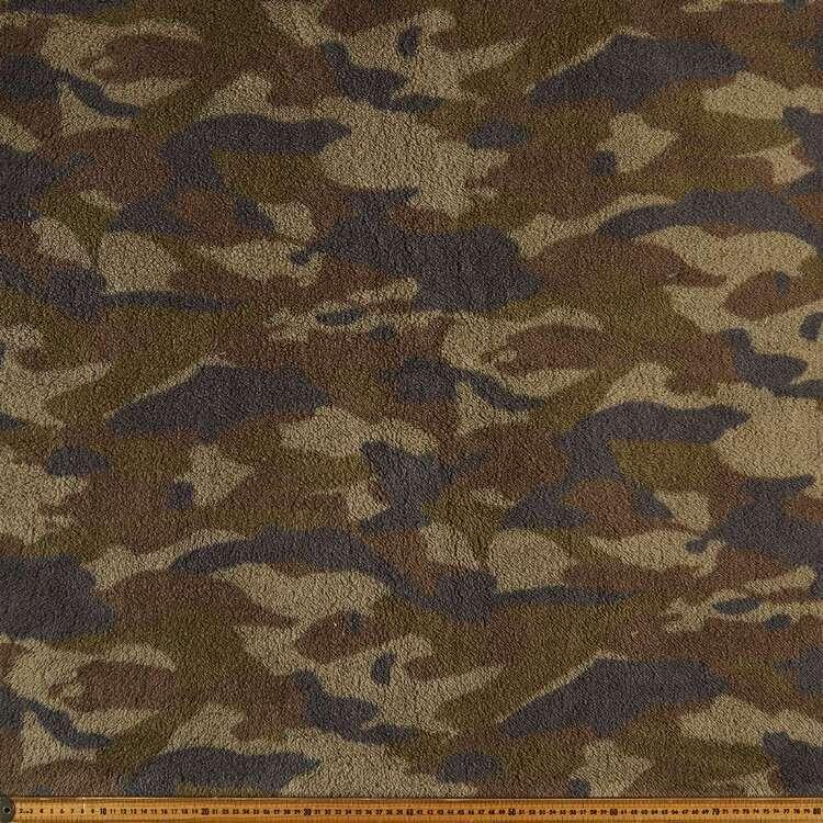 Camo Printed 145 cm Fur Fabric