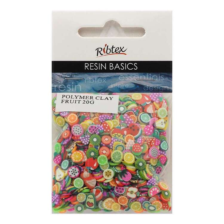 Ribtex UV Resin 20 g Polymer Clay Fruit Inclusions Multicoloured