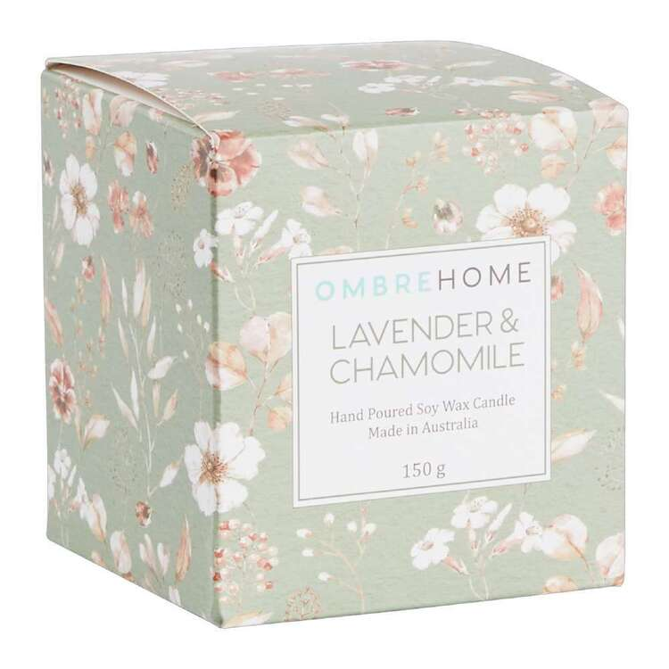 Ombre Home Classic Chic Lavender & Chamomile Boxed Candle