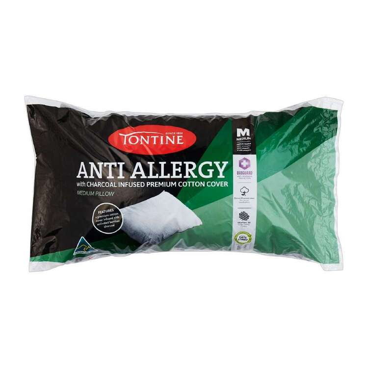 Tontine Anti Allergy Charcoal Infused Medium Standard Pillow