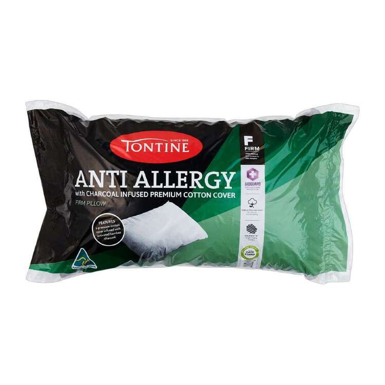 Tontine Anti Allergy Charcoal Infused Firm Standard Pillow