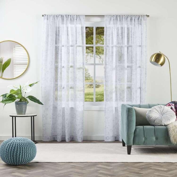KOO Luxe Yasmin Sheer Rod Pocket Curtains