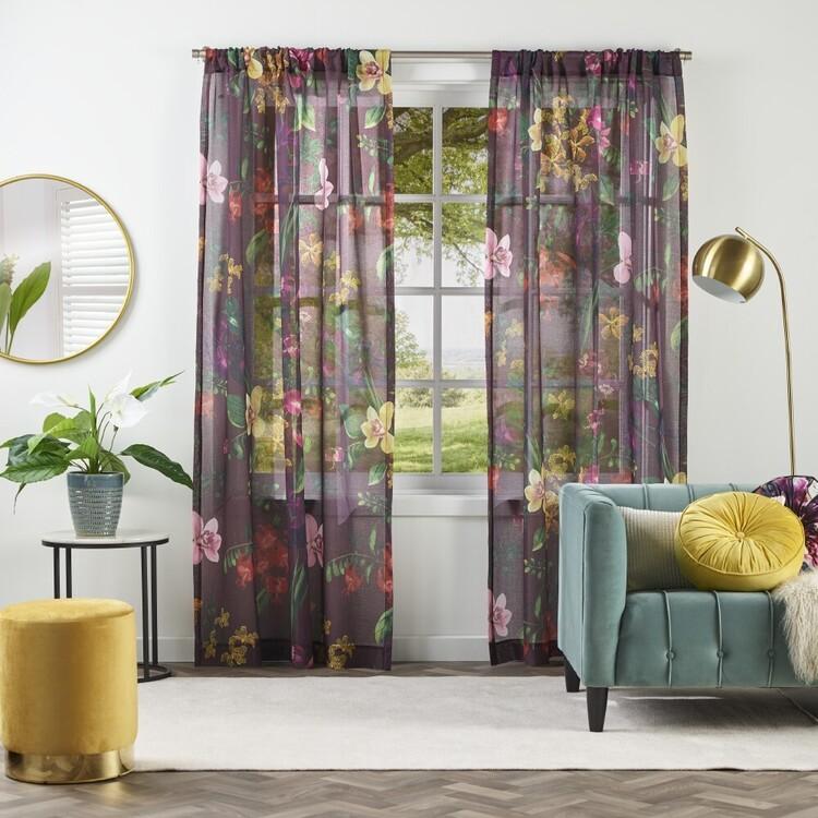 KOO Luxe Shalini Sheer Rod Pocket Curtains
