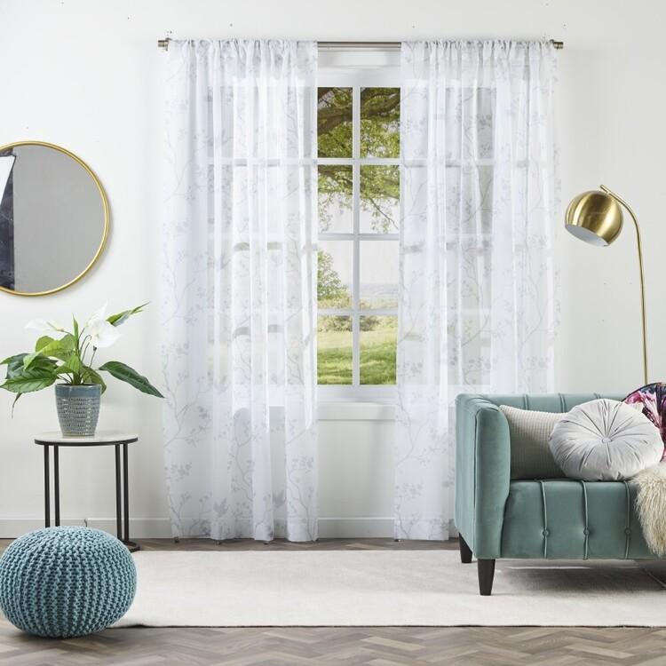 KOO Luxe Meili Sheer Rod Pocket Curtains