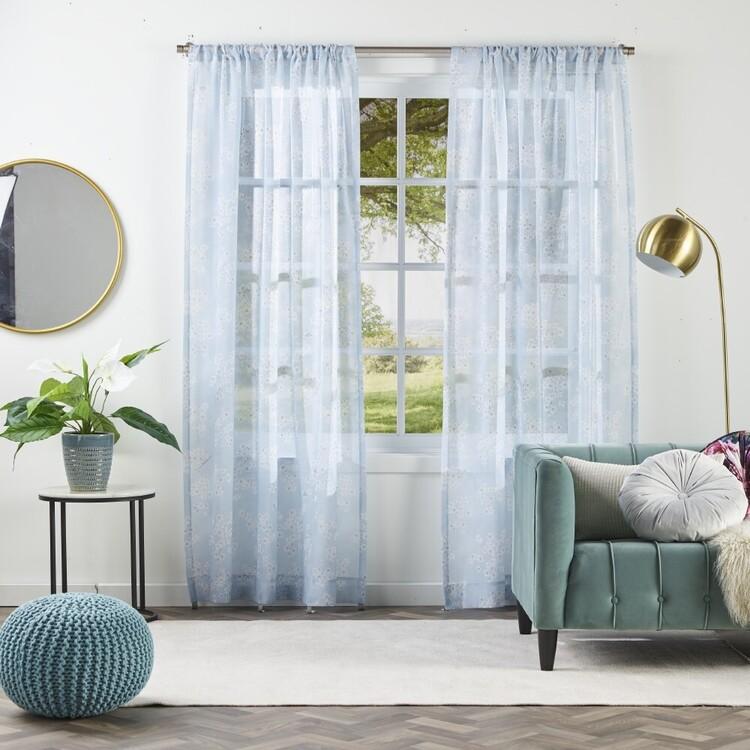 KOO Luxe Sakura Sheer Rod Pocket Curtains