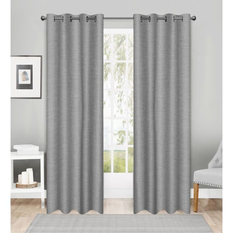 Brampton House Uno Triple Weave Eyelet Curtains