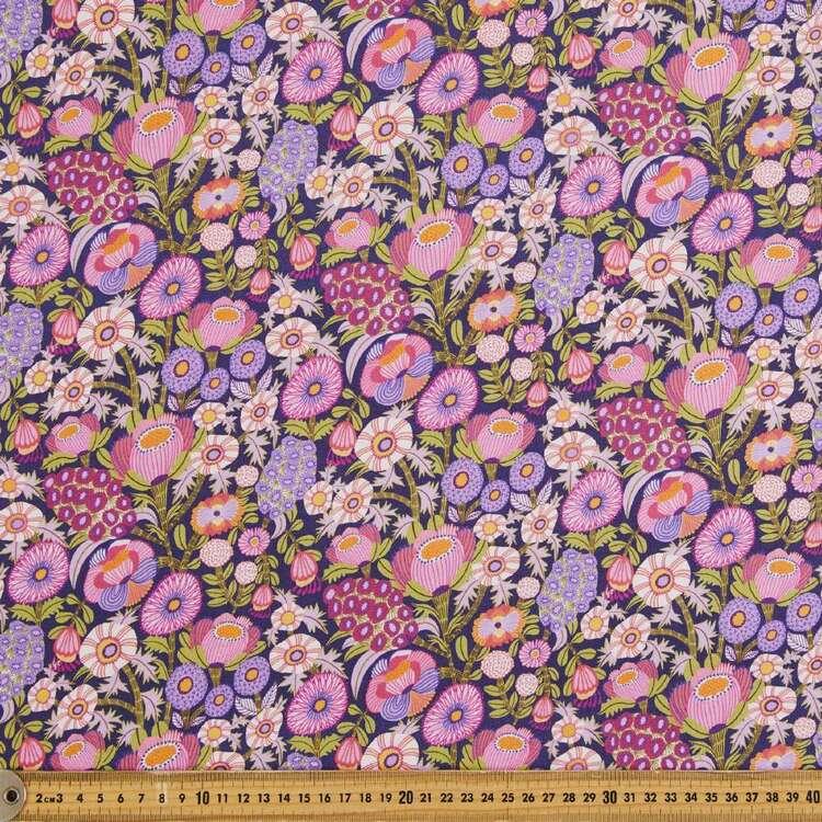 Kirsten Katz Viola Large Hyacinths Cotton Fabric