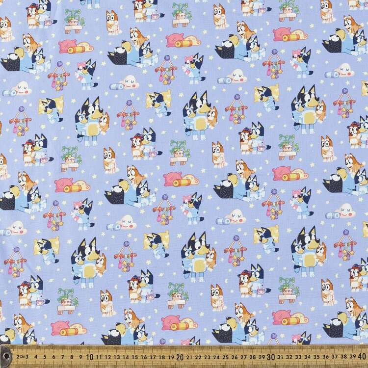 Bluey Sweet Dreams Cotton Fabric