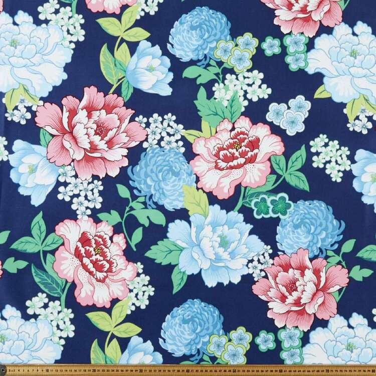 Peonies 150 cm Weatherproof Canvas Fabric