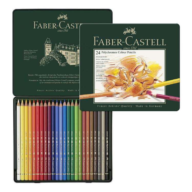 Faber Castell Polychromos Clear Pencl Tin